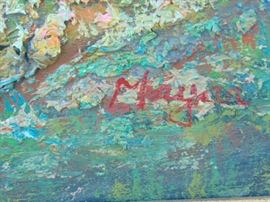 Signature of the previous oil painting