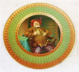 Early 1900s Dresden Art Tray- Jack Falstaff