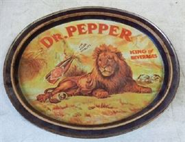 Dr. Pepper Metal Serving Tray