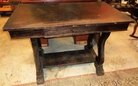 Antique 1-drawer Library Table