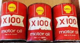 Vintage Shell Oil Cans
