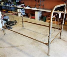 Antique Iron Bed with Rails