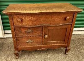 Antique Oak Wash Stand