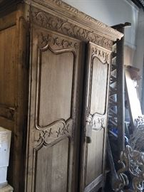 Incredible armoire with stunning carvings.