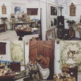 Antiques from France and Italy. Come see a secret source of antiques in the Memorial Area filled with antiques.