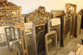 Antique mirrors in many sizes and styles.