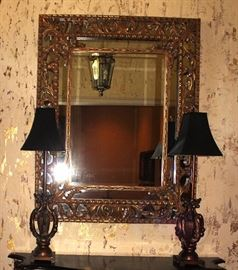 Mirror, Table Lamps