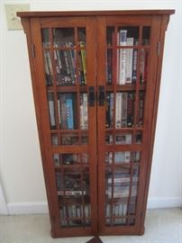 VHS AND DVD'S AND CABINET