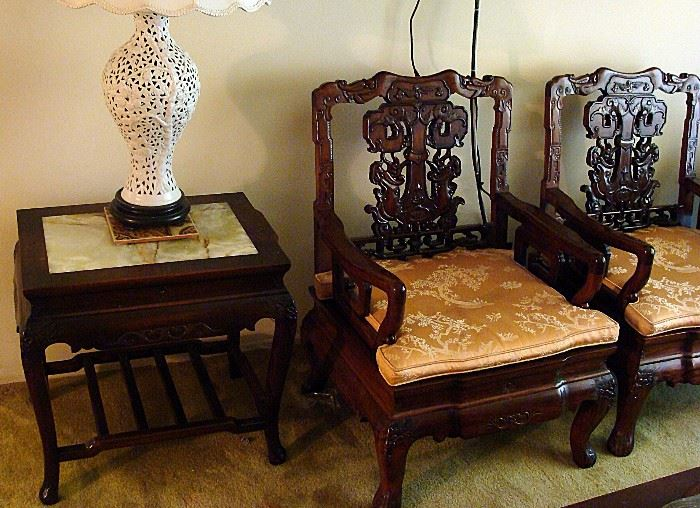 Part of a fabulous Rosewood living room set