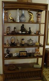 Mid century curio shelf