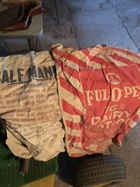 Feed sacks with nice graphics..