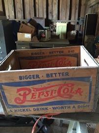 Pepsi crates..