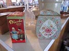 Vintage Dutch tins