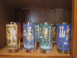 Vintage Libbey Cities from around the world tumbler set of 8 (complete)