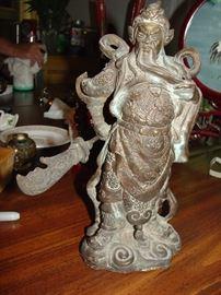 Bronze Guan Yu Statue
