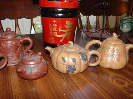 Vintage Chinese Yixing Clay Teapots