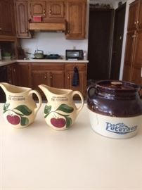 Assorted Ceramic pitchers and crocks