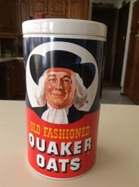 Vintage 1970's Ceramic Old Fashioned Quaker Oats Cookie Jar
