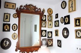 Huge Selection of Silhouette Portraits, Chippendale Mirror