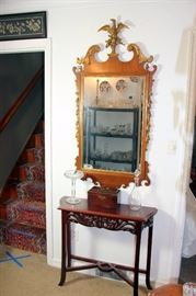 Chippendale Mirror, Side Table
