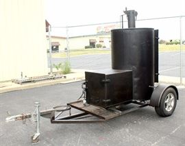 KC BBQ Society Competition Barbecue BBQ Pit Smoker Trailer, 4 Category Award Winner, Has Fed up to 400 People, Trailer Measures 12'L x 6'W