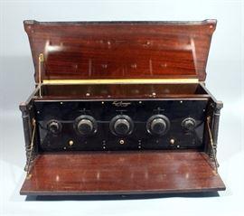 "1920's Freed-Eisemann Model NR-20 Neutrodyne 3 AM Circuit Broadcast Receiver, 32""W x 12.5""H x 12.5""D"