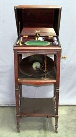 "Edison Disc Phonograph Victrola Model B150 in Edison No. 2 Cabinet, 20""W x 47"" x 20""D"