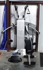 Bio Force Home Gym, Appears Complete, Includes Manual and Instructional Workout DVD