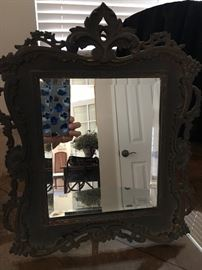 Antique Brass Mirror with stand