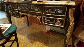 Oriental lacquer desk