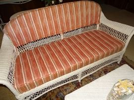 Antique wicker sofa.