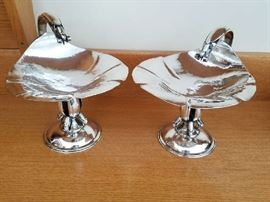 Carl Poul Peterson. Pair of Compotes. Sterling Silver
