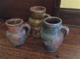 3 olive jars