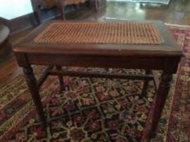cane bottom bench