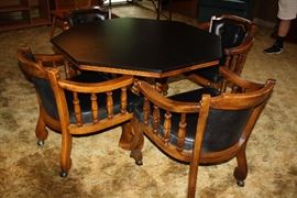Game Table with 4 Chairs
