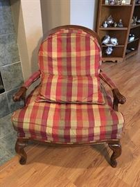 Silk Upholstered French Provincial Chair