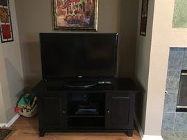 Flat Screen TV, Entertainment Stand