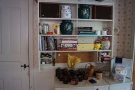 POTTERY, CROCKS, COOKBOOKS, MISC.