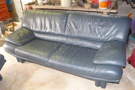 Leather sofa with love seat.