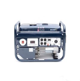 3 PLUS 3000 Watt Generator: A 3 PLUS 3000 watt generator, model MG3000. This generator features a 6.5HP gasoline engine, circuit breaker, power indicator, voltage selector, one pair of 120V Duplex Voltage Outlet, one 120/240V Twistlock outlet, recoil start, low oil shut off, large 4 gallon fuel tank and full perimeter safety frame.