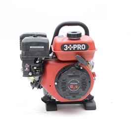 3 PRO 2500 Portable Gasoline Generator: A 3 PRO portable generator, model HY2501. An easily portable, 120V/60HZ, one pair of 20A duplex GFCI socket, recoil start, circuit reset buttons protect from electrical overload, DC battery charging receptacle and low oil automatic shut-off. Rated Power (2.2KW), Max Power (2.5KW), Fuel Capacity (1 Gal.), Engine Horse Power (6.5), G.W. (74 lbs.), handy carry style.