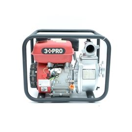 """3 PRO Centrifugal Water Pump: A 3 PRO centrifugal 2"""" input/output gas self-priming water pump, model HYWP50. Pump features 105' Lift, 16-1/2' Self Priming Height; 6.5HP engine (1 gallon), 15850 gallon per hr, 264 gallon per min at 3600 rpm."""