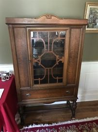 Antique Walnut China Cabinet