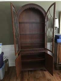 Baker Furniture Lighted China Cabinet w/ Glass Shelves - Detail