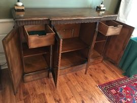 Baker Furniture Buffet Server/Entertainment Cabinet - Detail
