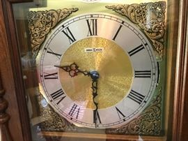 Howard Miller Mahogany Grandfather Clock - Detail