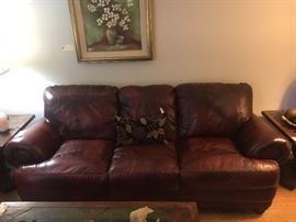 All leather sofa in excellent condition!
