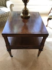 Walnut One-Drawer End Table - 2 of 2