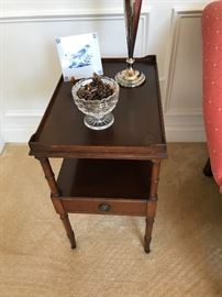 Mahogany One-Drawer Side Table