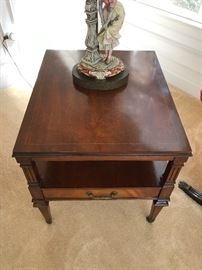 Walnut One-Drawer End Table - 1 of 2